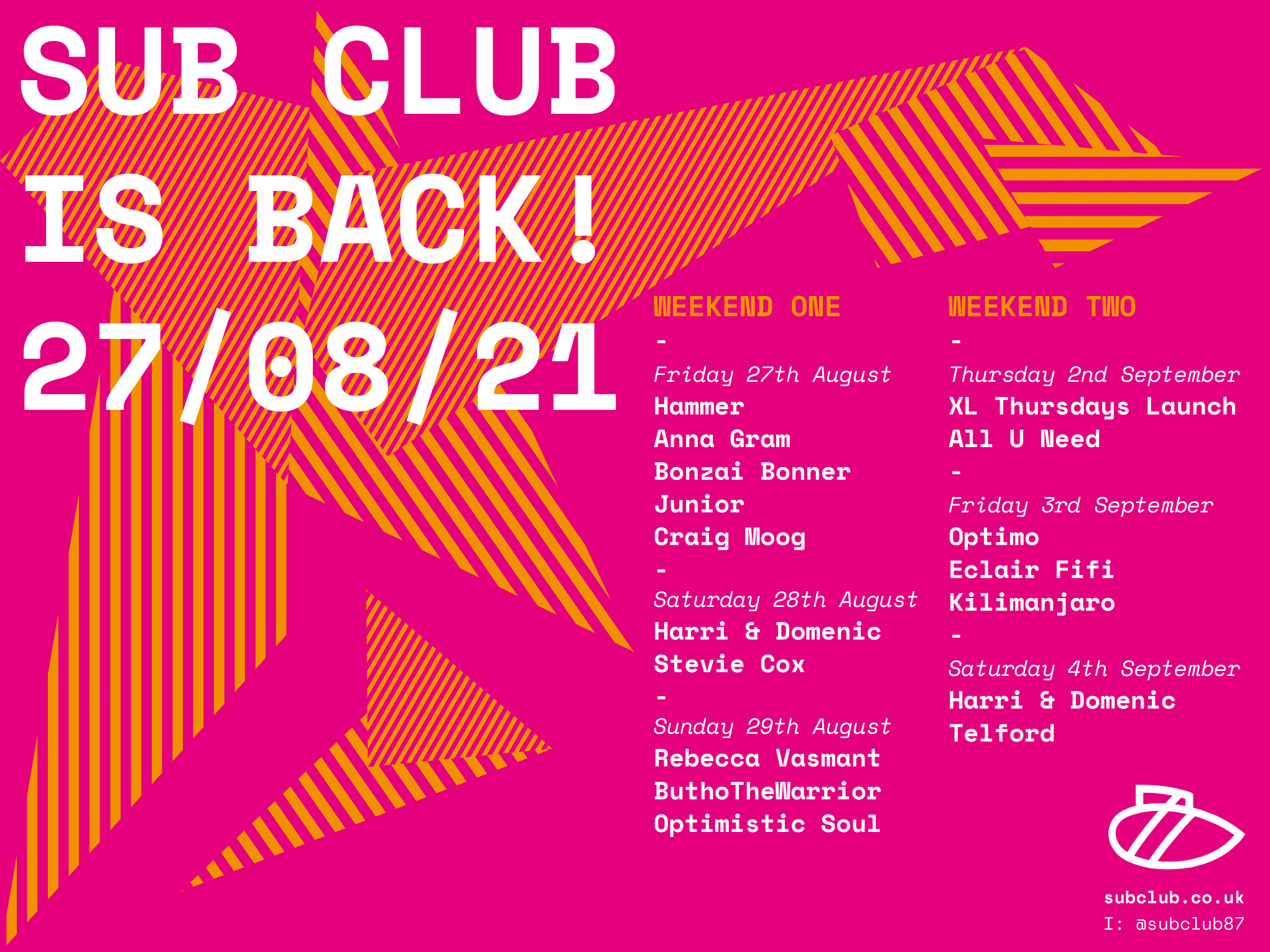 Sub Club reopening!