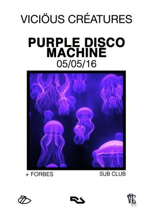 Purple Disco Machine A3
